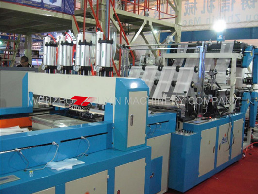 8 Tracks Automatic T-shirt Bag Making Machine Product