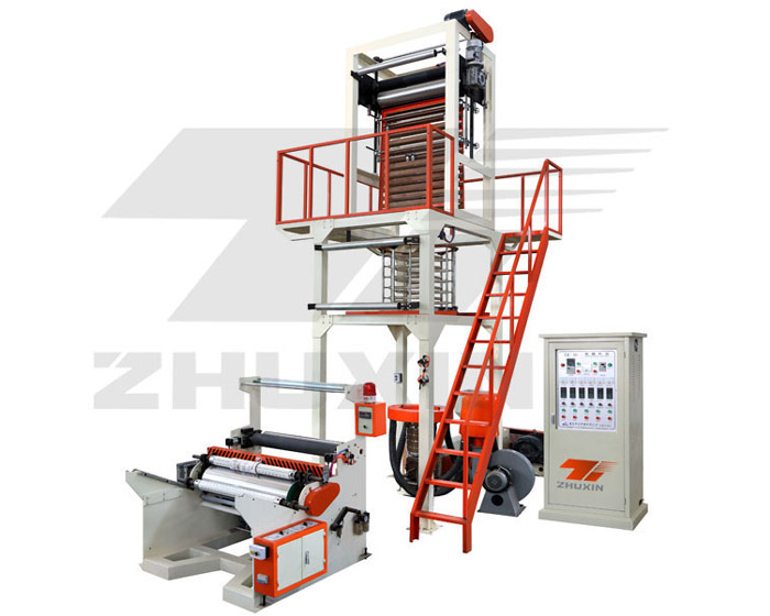 HDPE/LDPE Film Blowing Machine With Semi-auto Rewinder