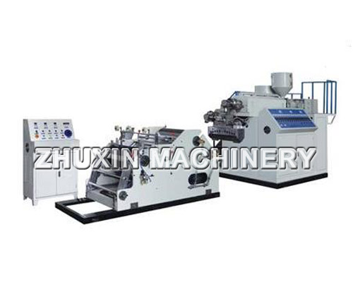 two layers stretch film making machine with (Automatic Rewinder)